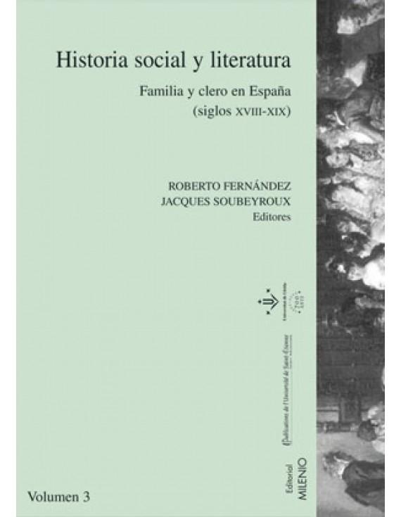 Historia social y literatura. Vol. III