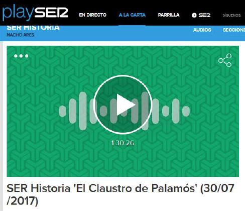 Entrevista a José María Sadia en SER Historia sobre El último claustro