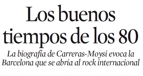 Reseña sobre Good times en La Vanguardia