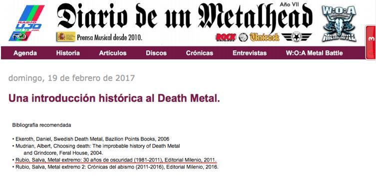 Metal Extremo. 30 años de oscuridad
